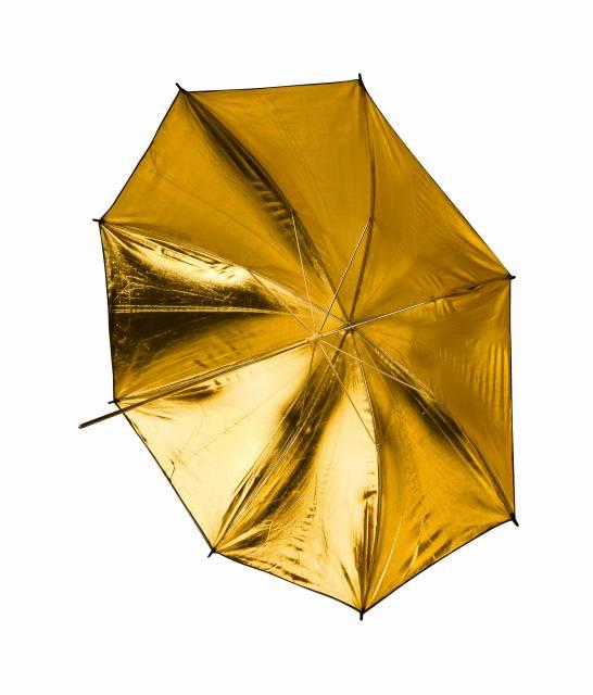 BRESSER SM-10 Reflex Umbrella gold/white/black 109 cm