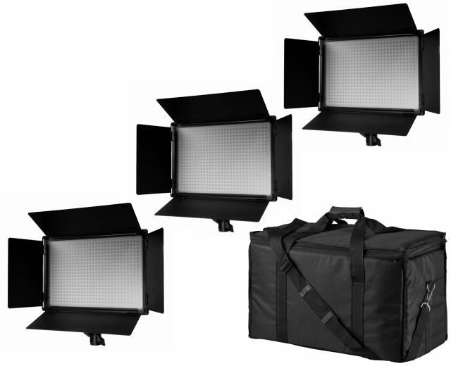 BRESSER SH-600A Bi-Color LED Panel Lights Set of 3 Pieces