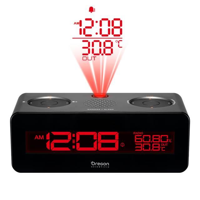 Oregon Scientific FM Projektionsradiowecker mit Smartphone-Ladefunktion