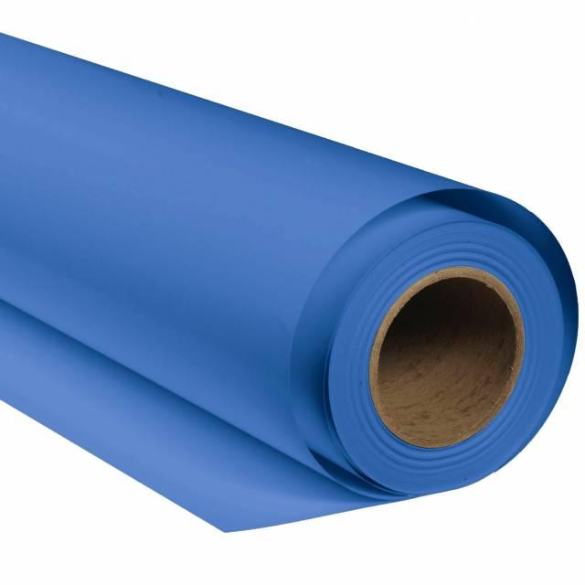 BRESSER SBP27 Fond de Studio Papier sur rouleau 1,36 x 11m Bleu Chromakey