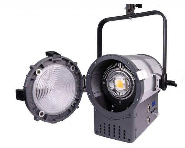 BRESSER SR-2000 LED Fresnel Spotlight + DMX + cooling