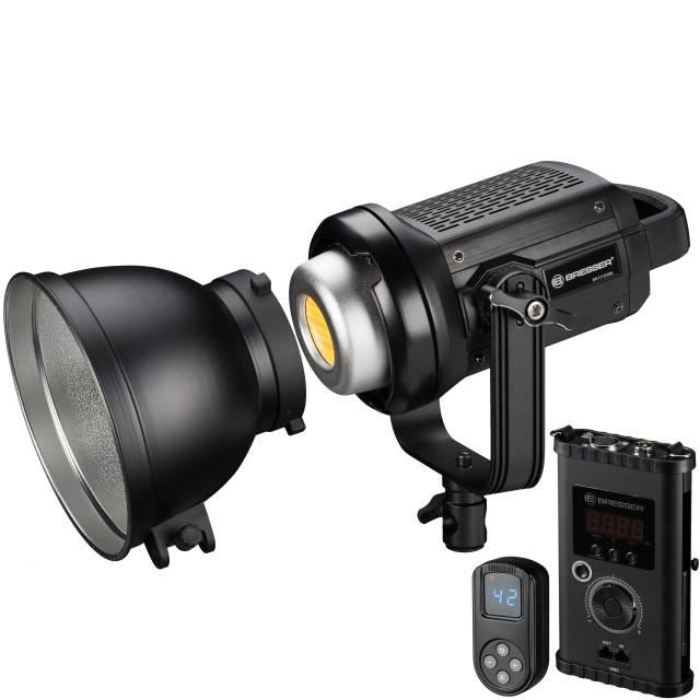 Spot lumineux à LED BRESSER BR-D1200BL COB Bi-Color avec Refroidissement