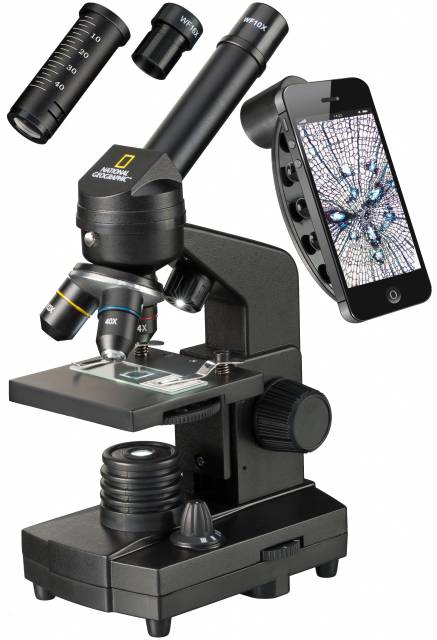 Microscopio NATIONAL GEOGRAPHIC 40x-1280x con supporto per smartphone