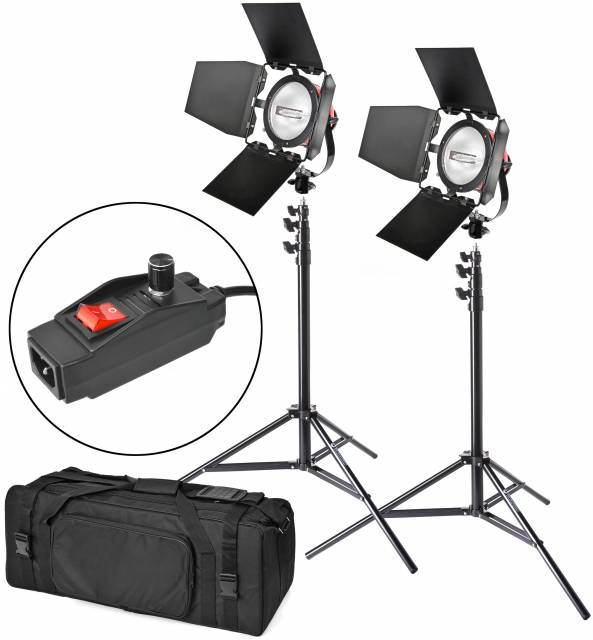 BRESSER SG-800D Foto/Video Halogen Set 2