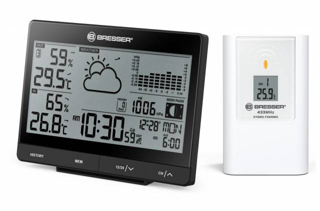 BRESSER Tendence WSX Weather Station with 24h barometric Pressure Chart