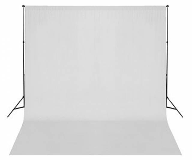 BRESSER BR-D26 Background Support + Background Cloth white 3x6m