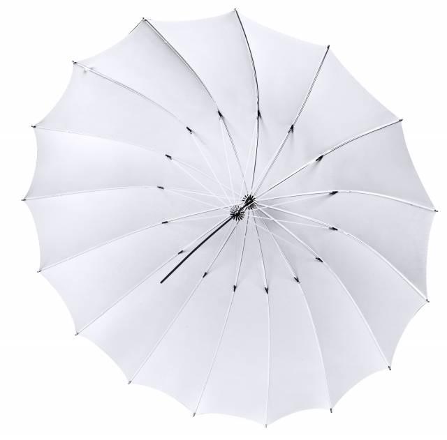 BRESSER SM-15 Jumbo Paraguas negro-blanco-plata/negro tamaño 180cm