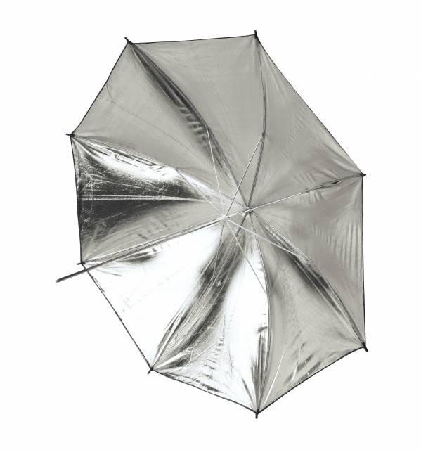 BRESSER SM-13 Paraguas reflector oro/plata transformable 109cm