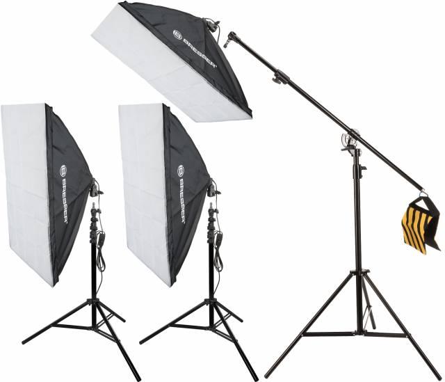 BRESSER conjunto de iluminación 24 3x caja de luz SS16 60x90cm (900W)
