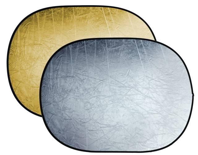Réflecteur pliable 2-en-1 BRESSER BR-TR5 or/argent 90x120cm