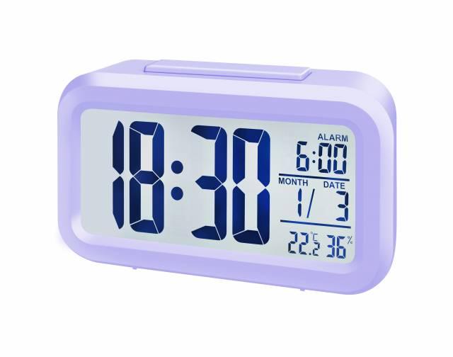 BRESSER MyTime Duo Reloj despertador púrpura