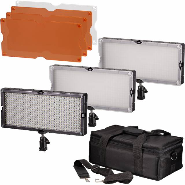 BRESSER SL-448 LED Panel Lights Set of 3 Pieces