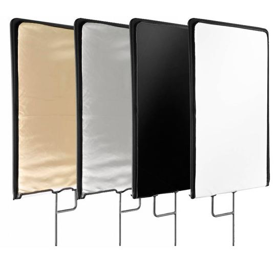 BRESSER C-Stand 5-in-1 Flag Panel 75x90cm