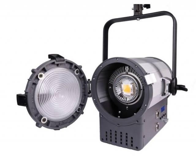 BRESSER SR-2000A LED Fresnel Spotlight + DMX + Kühlung