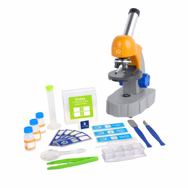 DISCOVERY ADVENTURES 800x Mikroskop Set für Fortgeschrittene