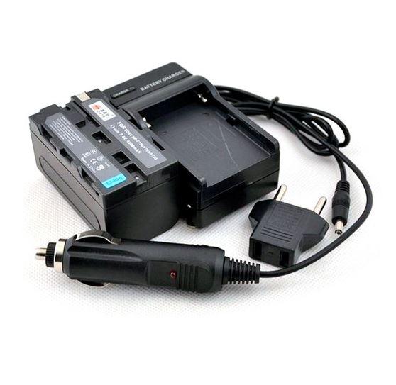 BRESSER Ladegerät + 2x Akku kompatibel zu Sony NP-F770 7.4v - 4200 m