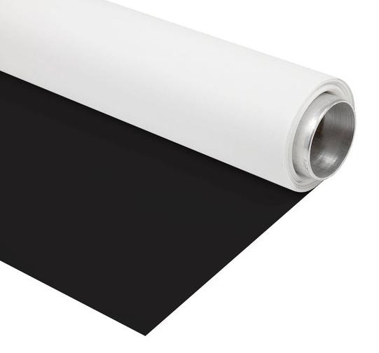 BRESSER Vinyl Hintergrundrolle 1,35x6m schwarz/weiß