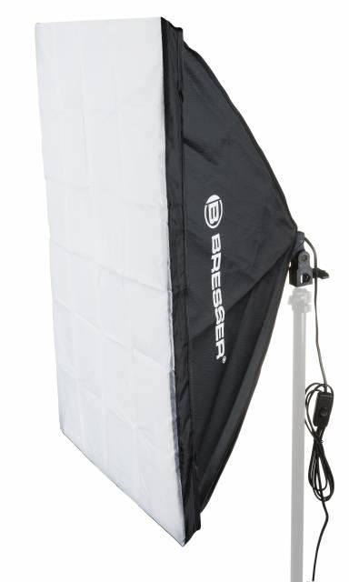 Softbox BRESSER SS-16 60x90cm + 1x lampadina per luce naturale 85W