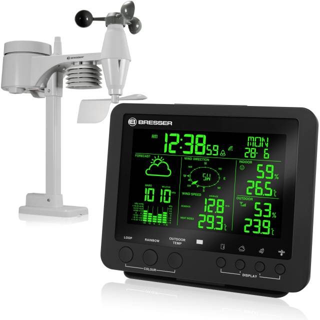 BRESSER 5-in-1 Professional Weather Center with 256 Colour Display