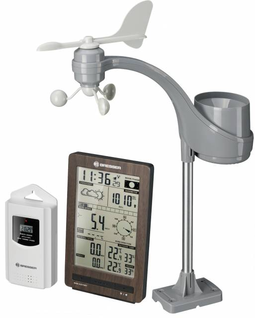 BRESSER ClimaTemp FW Weather Centre with wooden Look