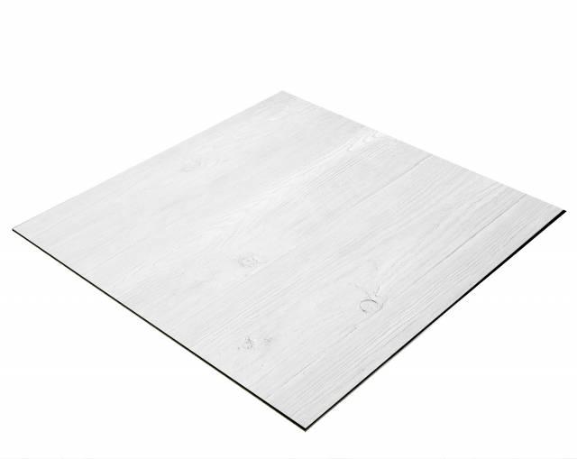 BRESSER Flatlay Hintergrund für Legebilder 60x60cm Holzplanken weiß