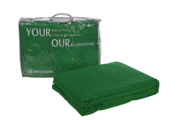 BRESSER Y-9 Background Cloth 2.5x3m chromakey green
