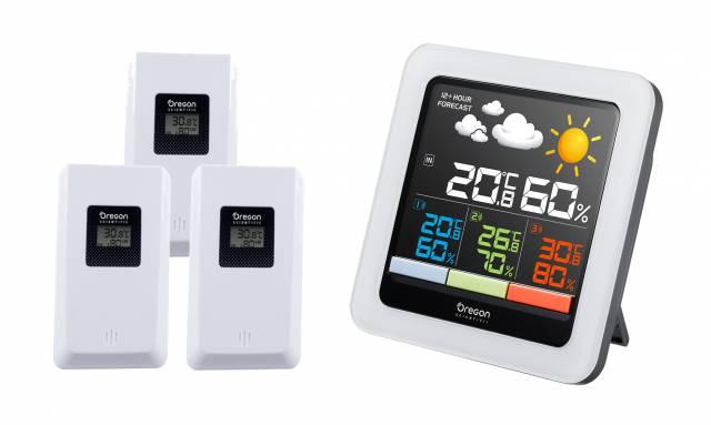 Oregon Scientific Color-LCD multi-zone weather station