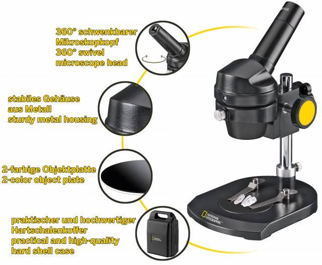 Microscopio a illuminazione NATIONAL GEOGRAPHIC 20x