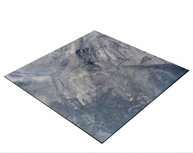 BRESSER Flatlay Hintergrund für Legebilder 40x40cm Abstraktes Grau/Blau