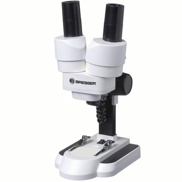 BRESSER Junior Auflicht- und Durchlichtmikroskop mit 20 und 50facher Vergrößerung