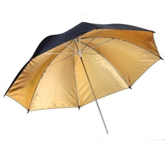 BRESSER BR-BG110 Reflective Umbrella black/gold 110cm
