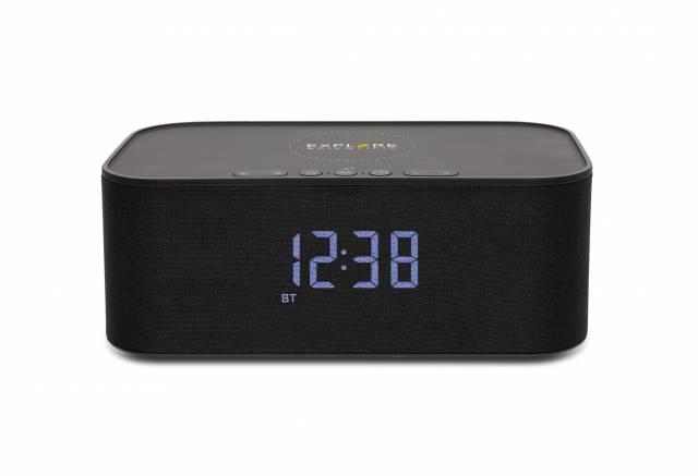 EXPLORE SCIENTIFIC Bluetooth Stereo-Lautsprecher mit Weck- und Ladefunktion