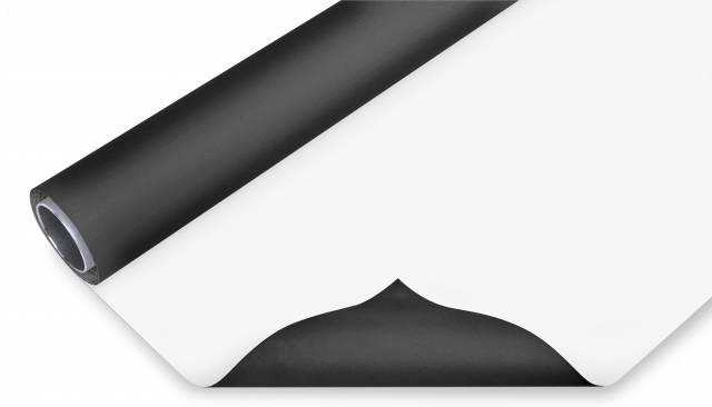 BRESSER Vinyl achtergrondrol zwart/wit 2x8m