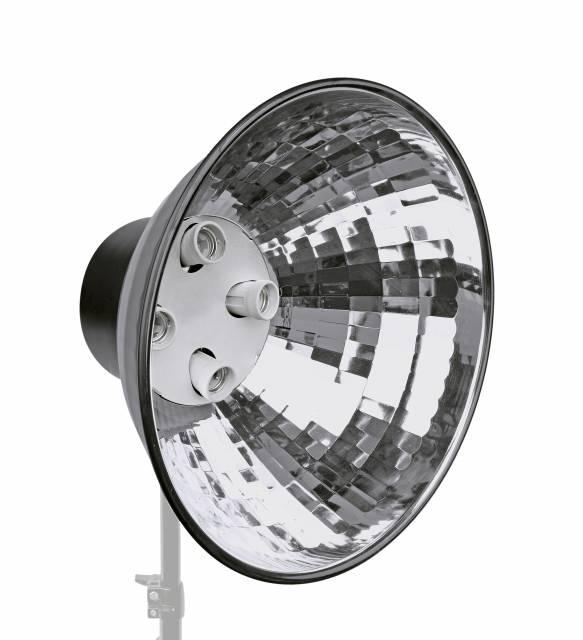 BRESSER MM-05 Portalampada con Riflettore per 4 Lampadine spirale