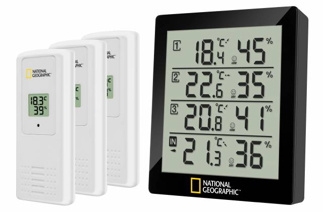 NATIONAL GEOGRAPHIC Thermo-hygrometer black 4 measurement results