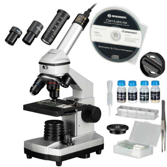 Set Microscopio BRESSER JUNIOR 40x-1024x con Custodia rigida