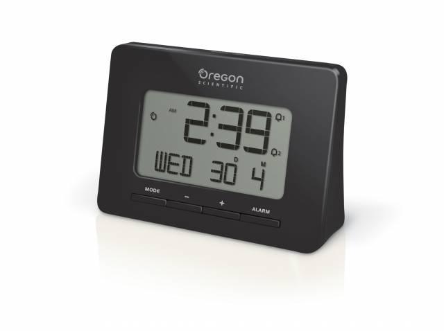 Oregon Scientific radio-controlled alarm clock black with Dual Alarm Function