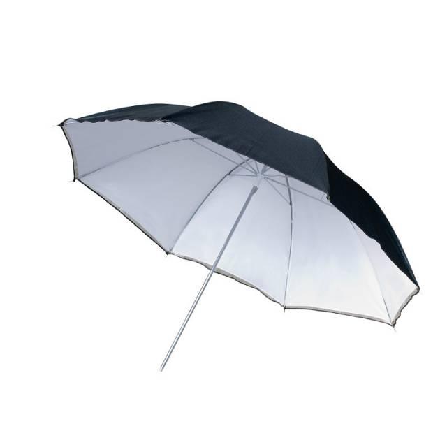BRESSER SM-11 Parapluie Réflecteur blanc/noir 109cm