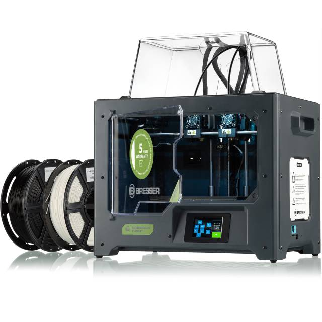 BRESSER T-REX 2 3D Printer with 2 Extruders