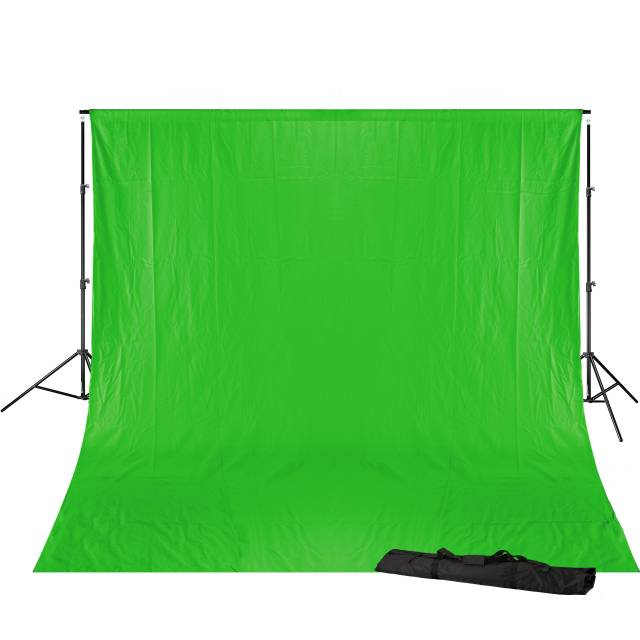 BRESSER BR-D23 Background Support 240x300cm including Chromakey green Background Cloth 3x6m