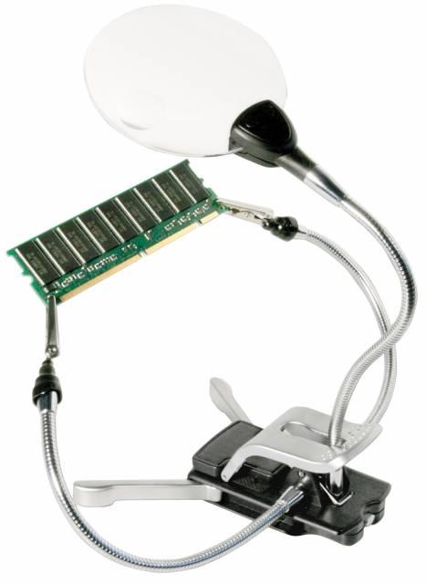Lupa para Manualidades BRESSER 2x/4x con Iluminación LED