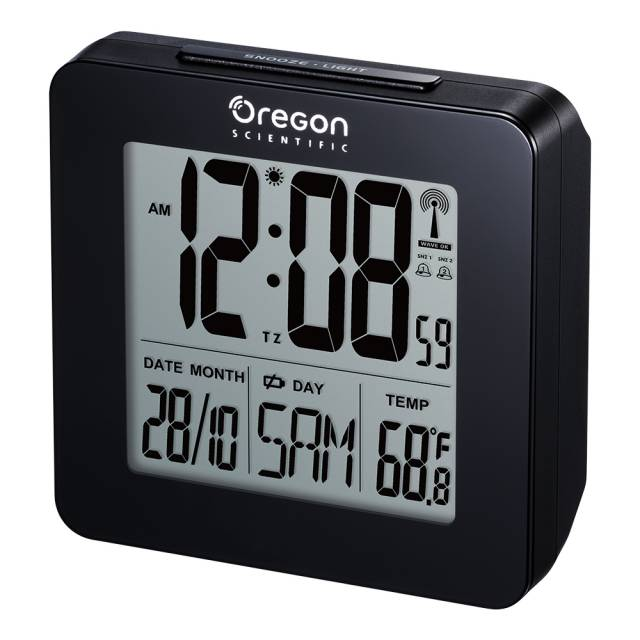 Oregon Scientific Funkwecker mit Raumtemperaturanzeige - schwarz