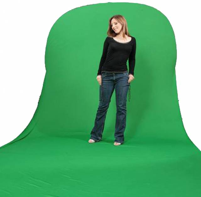 BRESSER TR-10 Collapsible Background chromakey green/white with green Train 150x200+200cm