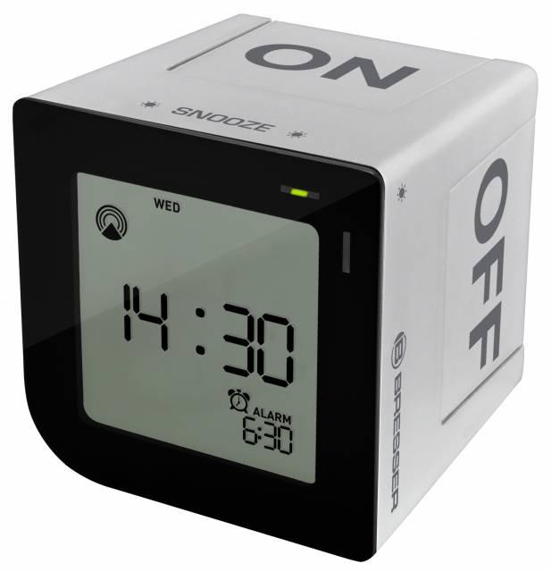 BRESSER Réveil alarme radio contrôlé FlipMe argenté