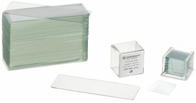 BRESSER Blank Slides/Cover Plates 50/100 pieces