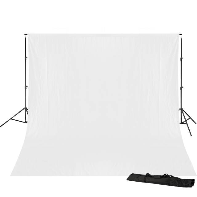 BRESSER BR-D23 Background Support 240x300cm including white Background Cloth 3x6m