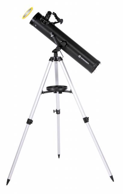 Telescopio riflettore BRESSER Venus 76/700 AZ - con adattatore per Smartphone