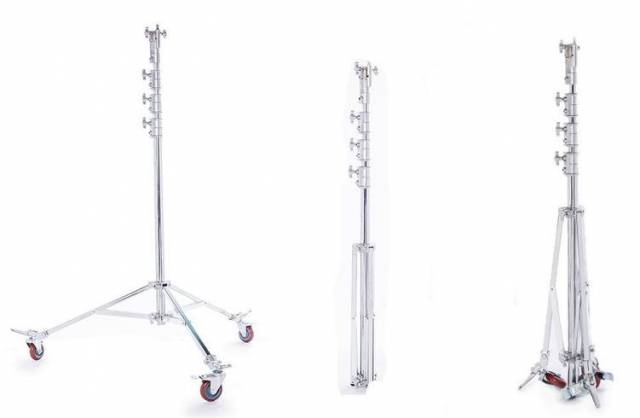 BRESSER BR-C6M Schwerlaststativ mit Rädern - 600cm, bis 30 kg belastbar
