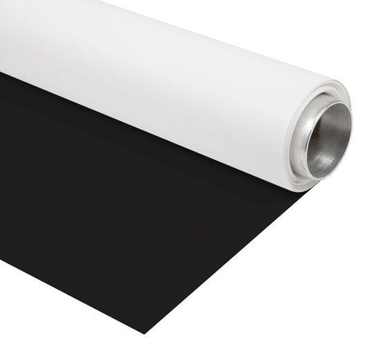 BRESSER Vinyl Background Roll 1.35x4m black/white