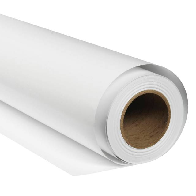 Tło fotograficzne kartonowe BRESSER SBP01 2 × 11 m arktyczna biel